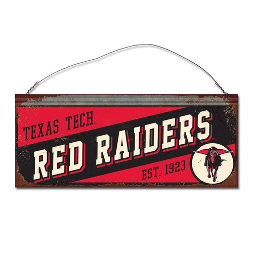 Texas Tech University Small Slant Sign