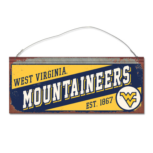 West Virginia University Small Slant Sign