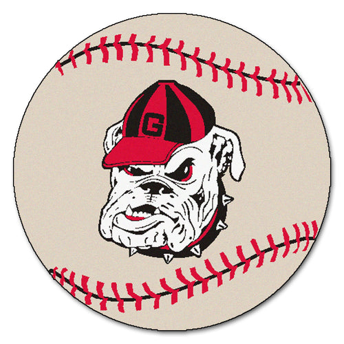 University of Georgia Bulldogs Baseball Area Rug