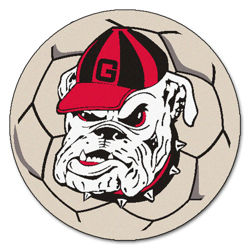 University of Georgia Bulldogs Soccer Ball Rug