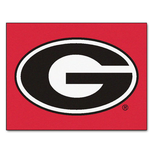 University of Georgia Red Logo Area Rug