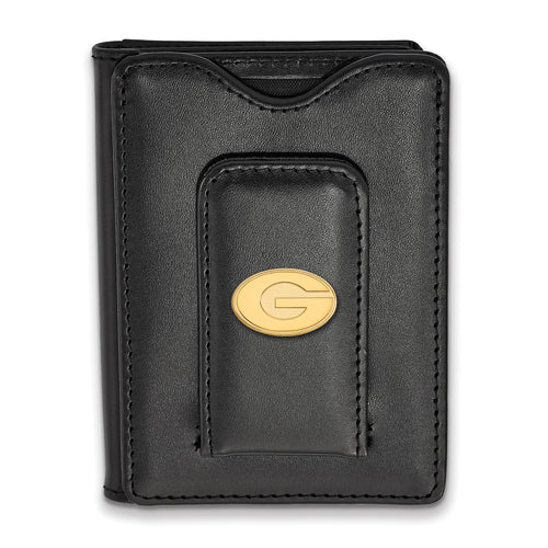 University of Georgia Black Leather Wallet