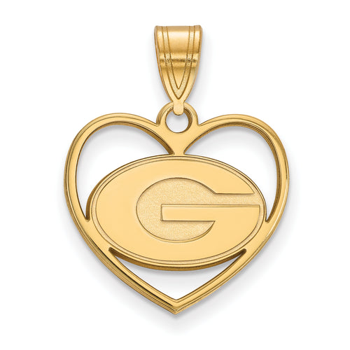 University of Georgia Logo Heart Charm