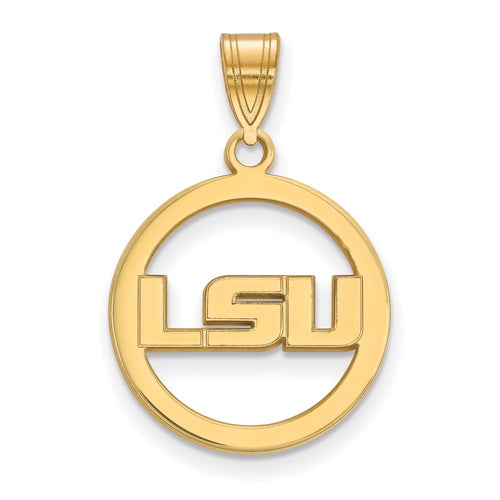 Louisiana State University Pendant in Circle