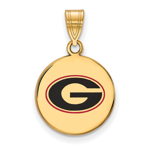 University of Georgia Bulldogs Enamel Disc Pendant Charm