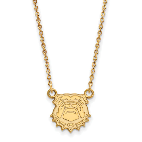 University of Georgia Bulldogs Mascot Pendant Necklace