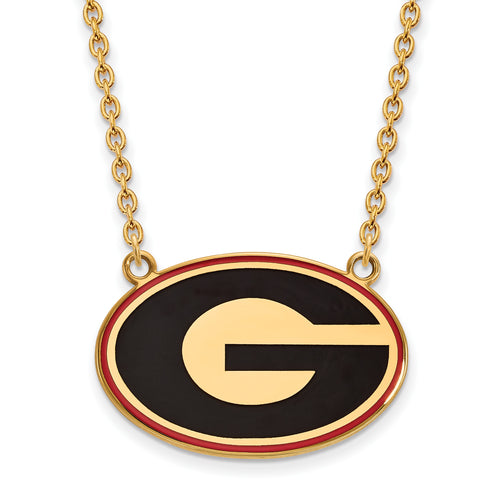 University of Georgia Bulldogs Enamel Pendant Necklace