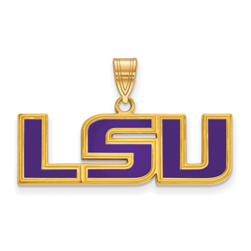 Louisiana State University Enamel Pendant