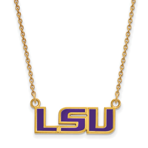 Louisiana State University Enamel Pendant Necklace