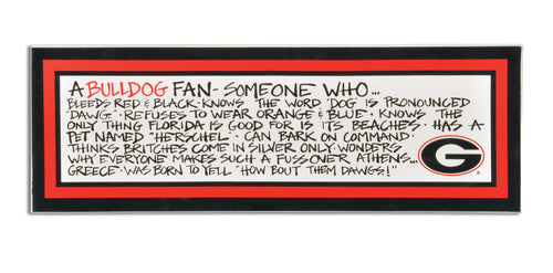 University of Georgia  Definition of a Fan Wooden Plaque