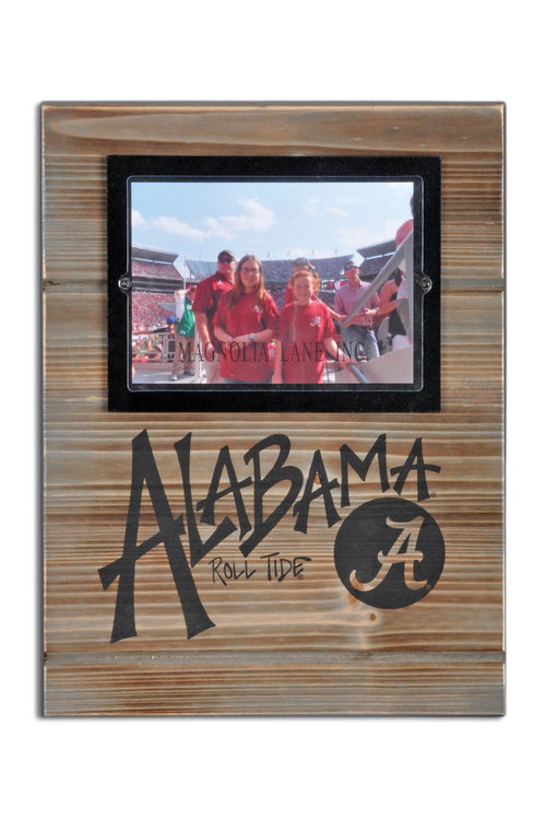 University of Alabama Wood Plank Frame