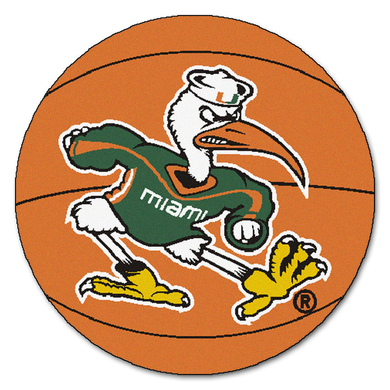 University of Miami Hurricanes Basketball Area Rug