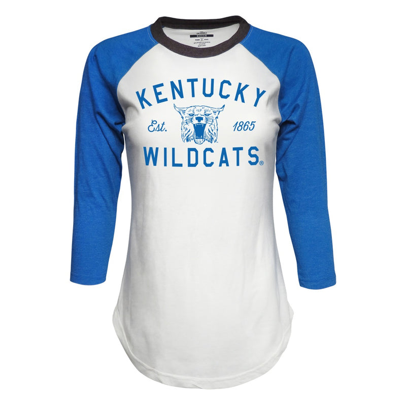 University of Kentucky Wildcats Ladies Baseball Style T-Shirt