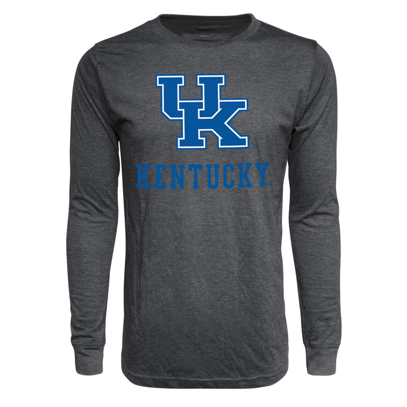 University of Kentucky Interlock Long Sleeve TriBlend T-Shirt