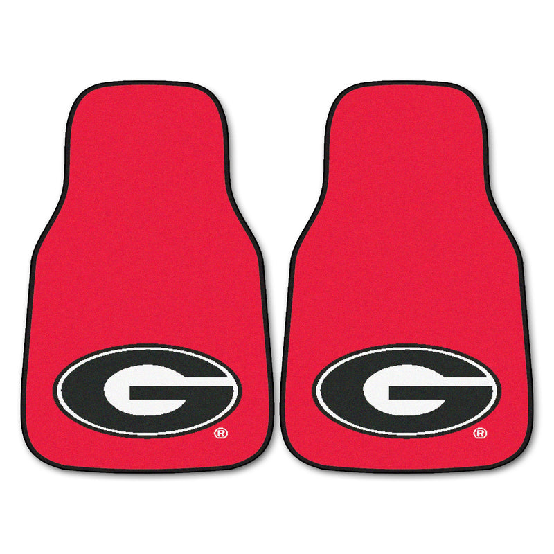 University of Georgia Red Carpet Car Floor Mats - 2-Piece
