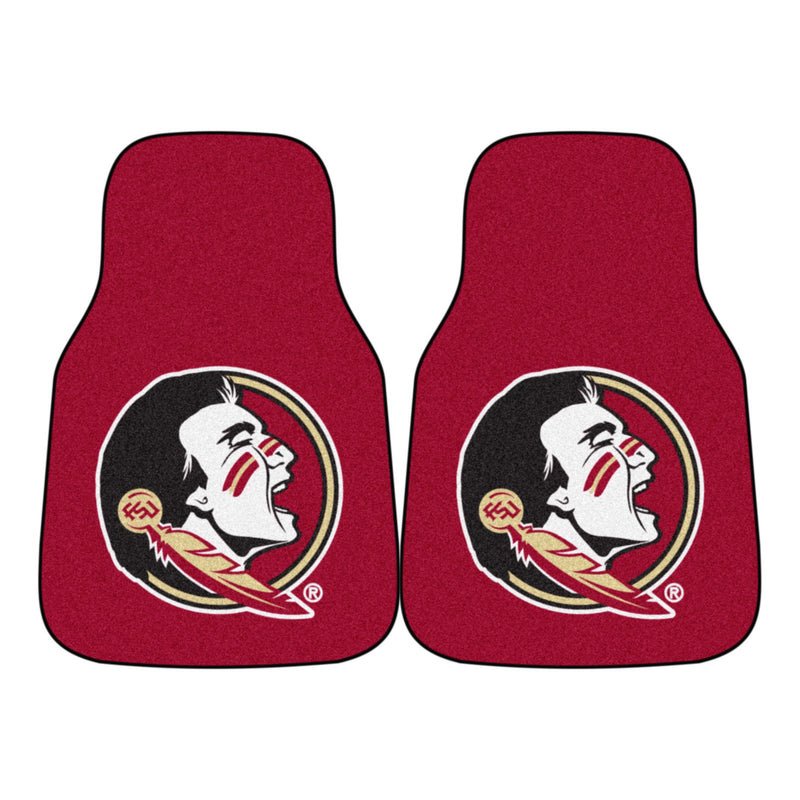 Florida State University Seminoles Garnet Carpet Car Floor Mats - 2-Piece