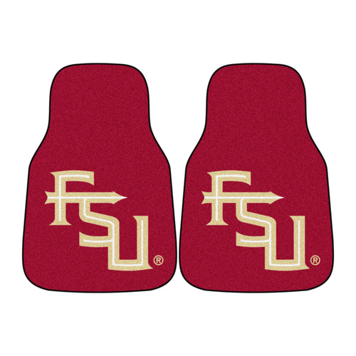 Florida State University Garnet Carpet Car Floor Mats - 2-Piece