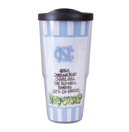University of North Carolina Travel Tumbler with Lid (24 oz)