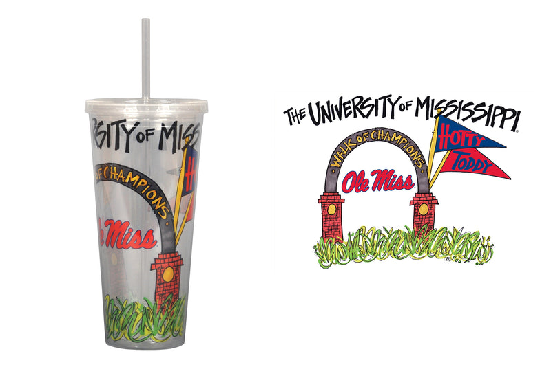 University of Mississippi 22oz Tumbler with Straw