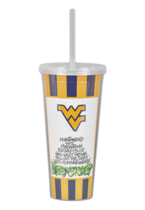 West Virginia University 22oz Tumbler with Straw