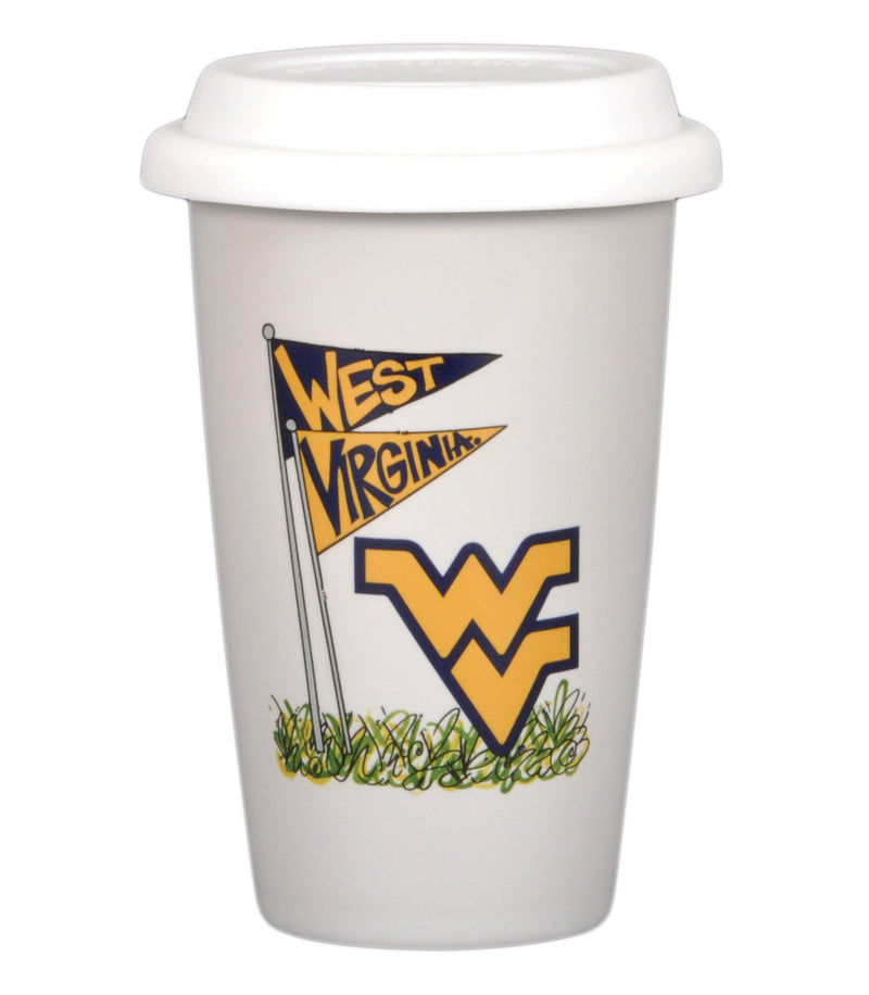 West Virginia University 14oz Travel Mug