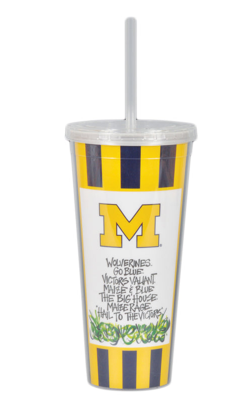 University of Michigan 22oz Tumbler with Straw