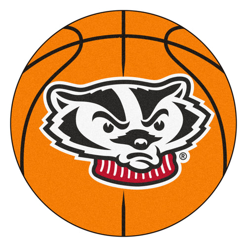 University of Wisconsin Badgers Basketball Area Rug