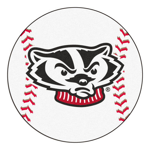 University of Wisconsin Badgers Baseball Area Rug