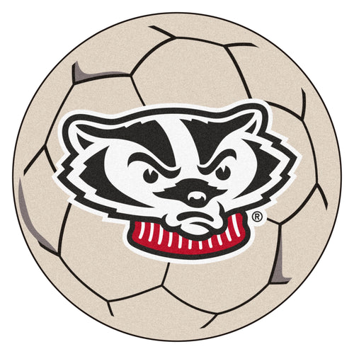 University of Wisconsin Badgers Soccer Ball Rug
