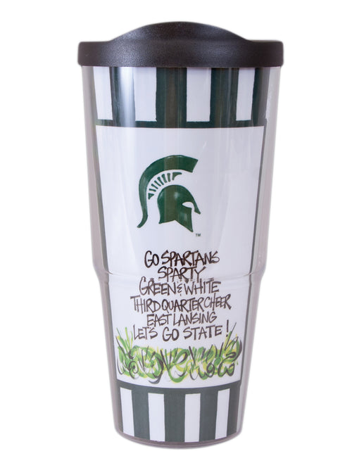 Michigan State University Travel Tumbler with Lid (24 oz)