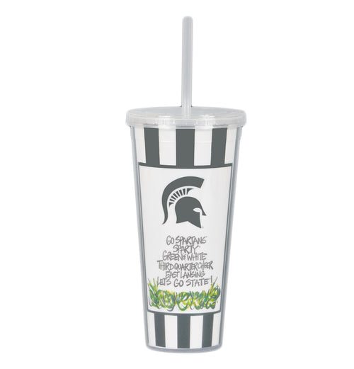 Michigan State University 22oz Tumbler with Straw