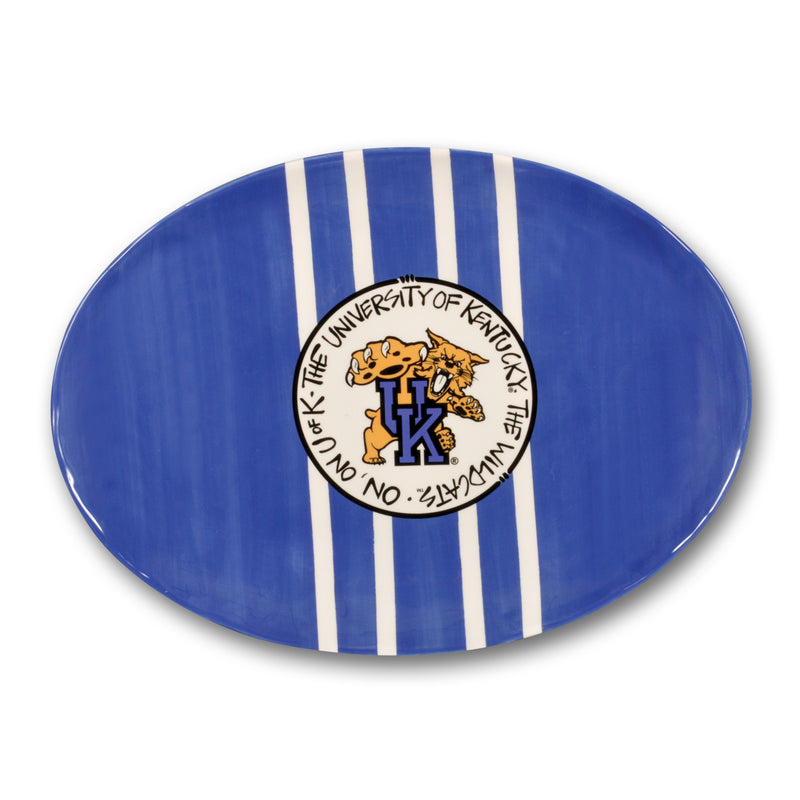 University of Kentucky Blue Mascot Ceramic Platter