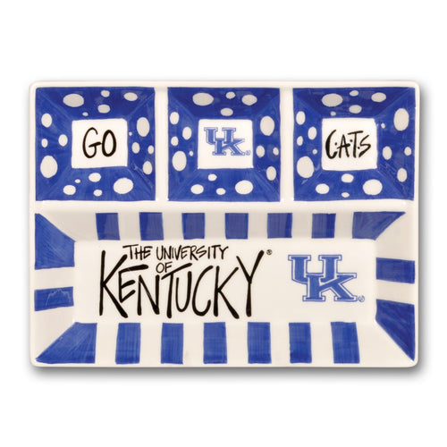 University of Kentucky Four Section Serving Platter