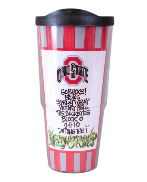 Ohio State University Travel Tumbler with Lid (24 oz)
