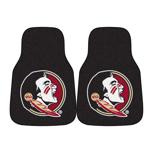 Florida State University Seminoles Black Carpet Car Floor Mats - 2-Piece