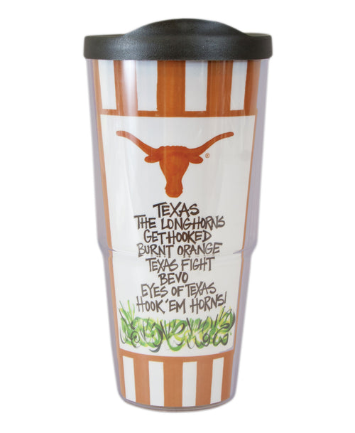 University of Texas Travel Tumbler with Lid (24 oz)