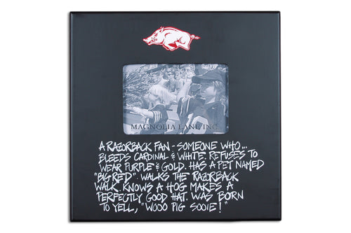 University of Arkansas Definition of a Fan Picture Frame