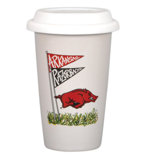 University of Arkansas 14oz Travel Mug