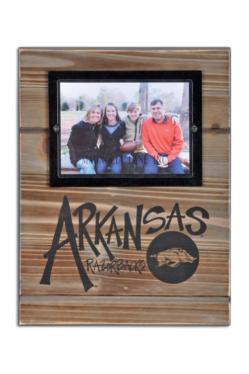 University of Arkansas Wood Plank Frame