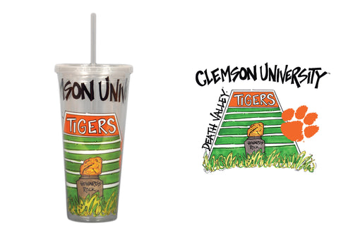 Clemson University 22oz Tumbler with Straw