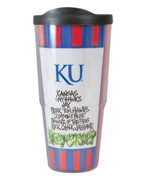 University of Kansas Travel Tumbler with Lid (24 oz)