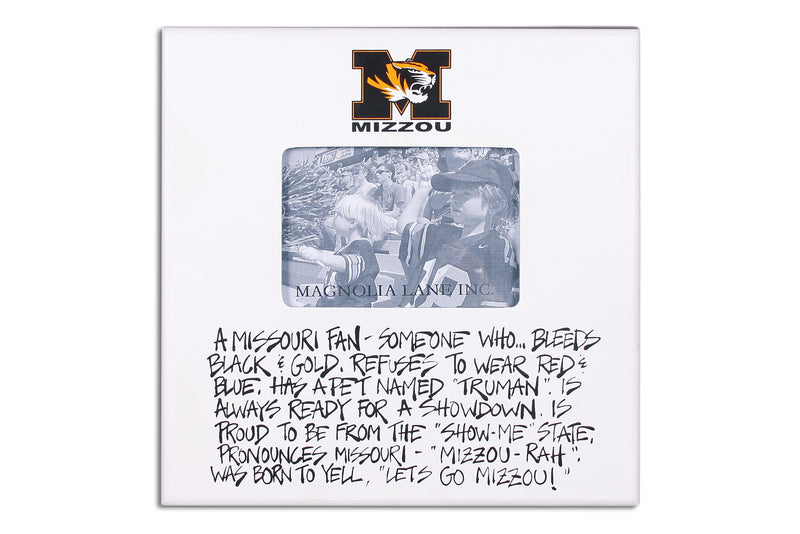 University of Missouri Definition of a Fan Picture Frame