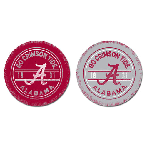 University of Alabama Sandstone Car Coasters