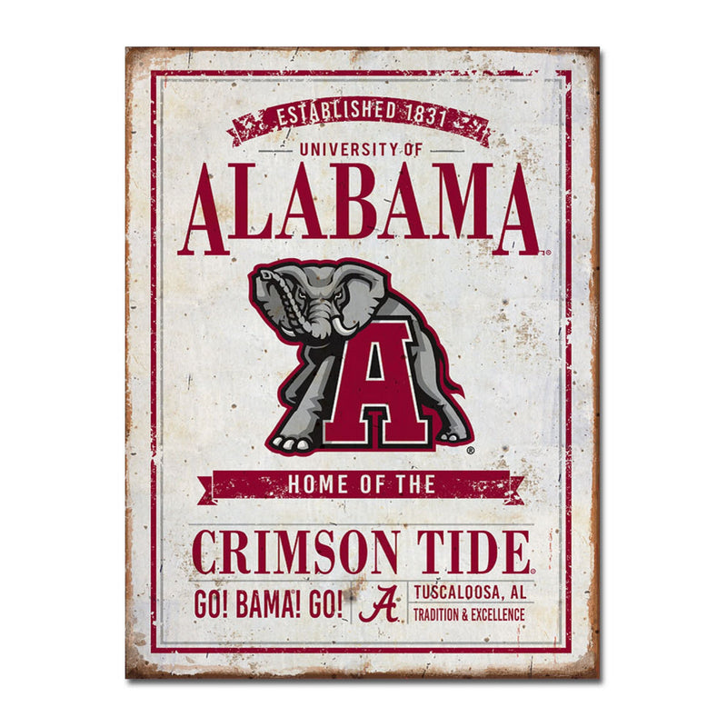University of Alabama Vintage Tin Sign