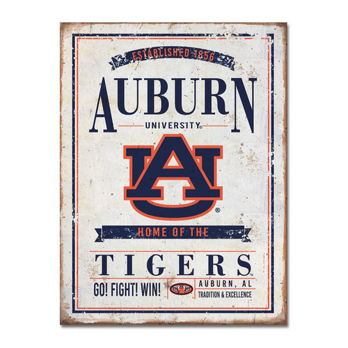 Auburn University Vintage Tin Sign