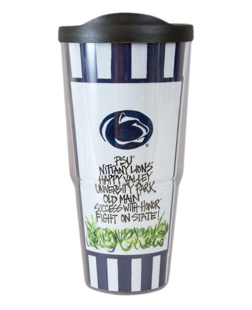 Penn State University Travel Tumbler with Lid (24 oz)