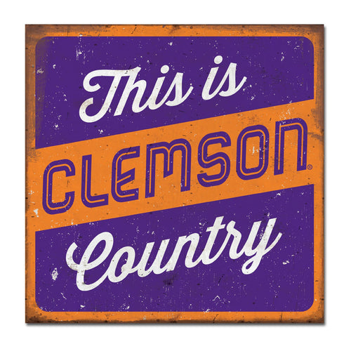 Clemson University Large Tin Sign