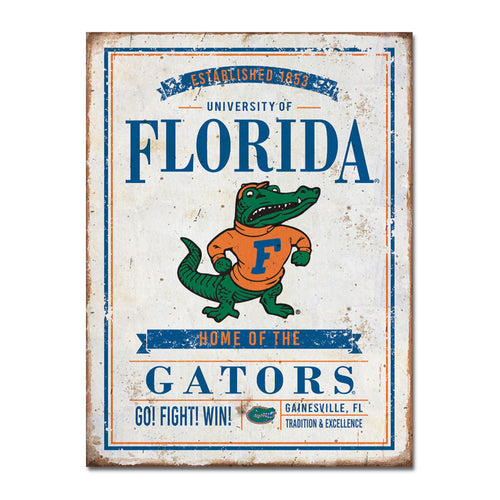University of Florida Vintage Tin Sign
