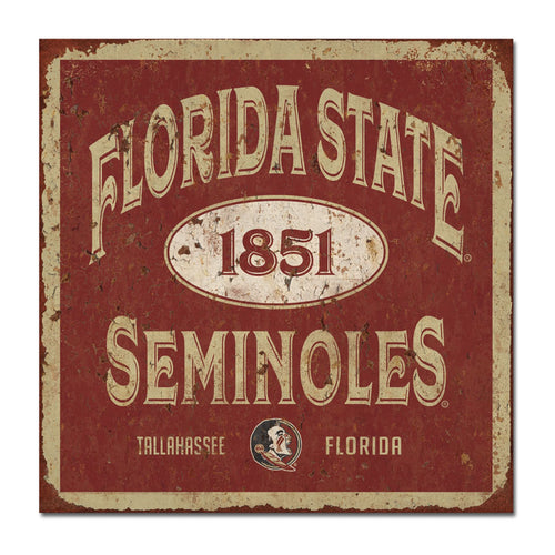 Florida State University Five & Dime Large Tin Sign