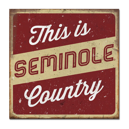 Florida State University Large Tin Sign